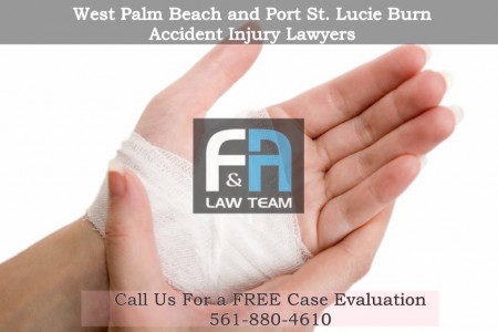 West Palm Beach Burn Accident Injury Lawyers Infographic