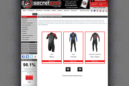 Wetsuit Guide Infographic
