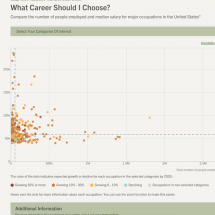 What Career Should I Choose? [Interactive Graph] Infographic