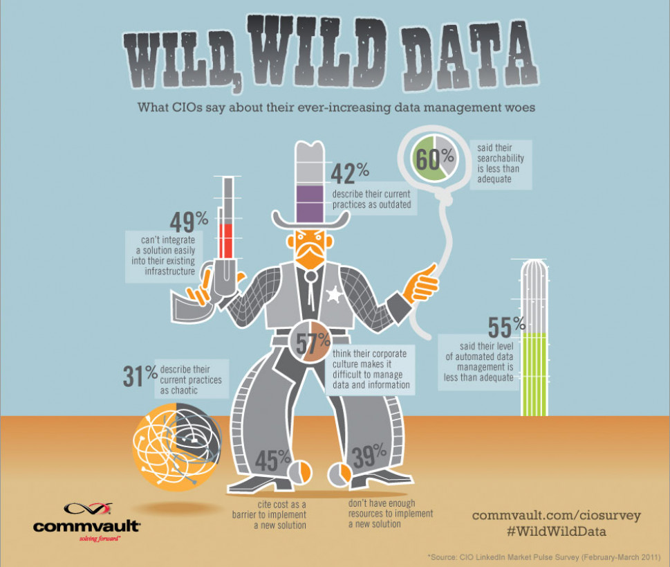 What CIOs Say About Their Ever-Increasing Data Management Woes Infographic