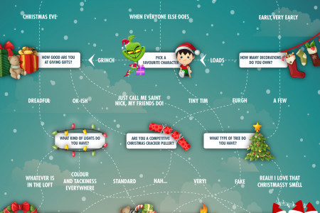 What Do Your Christmas Decorations Say About You?  Infographic