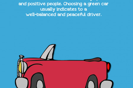What does your car colour say about you? Infographic
