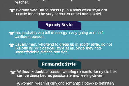 What does your clothing style says about you? Infographic