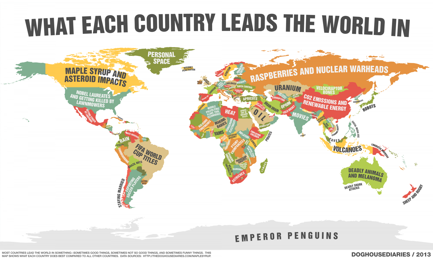What Each Country Leads The World In Infographic