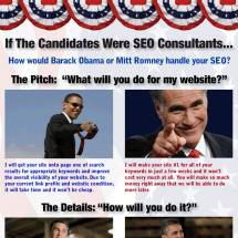 What if Presidential Candidates Were SEO Consultants 2012 Infographic