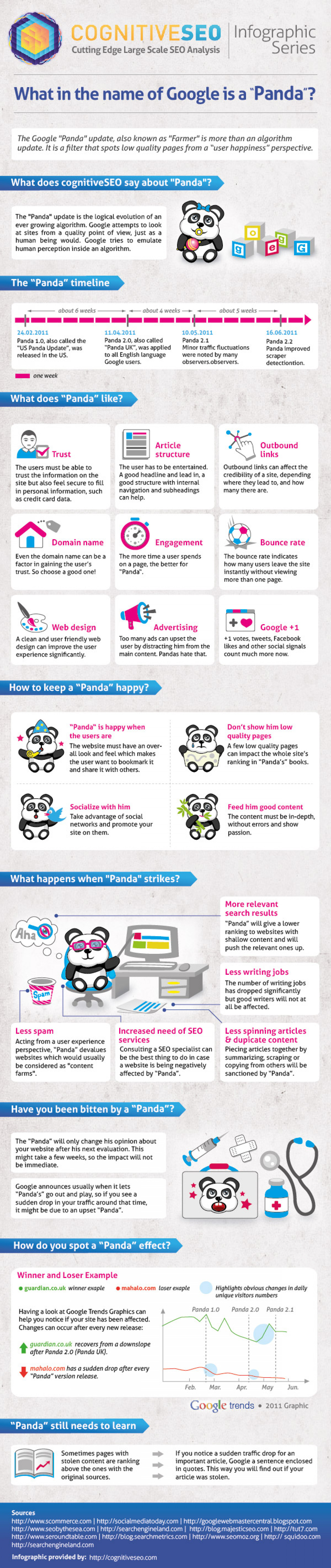 What in the Name of Google is a Panda? Infographic