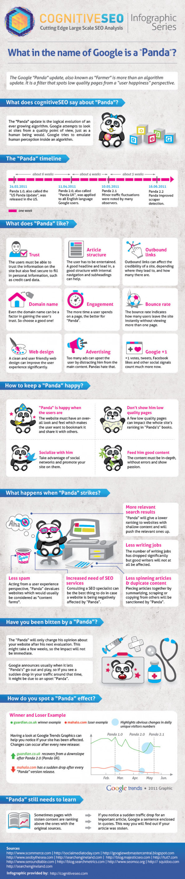 "What in the name of Google is a ""Panda?"" Infographic"