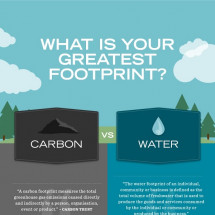 What Is Your Greatest Footprint? Carbon vs Water Infographic