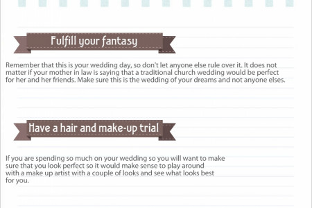 What makes a perfect wedding Infographic