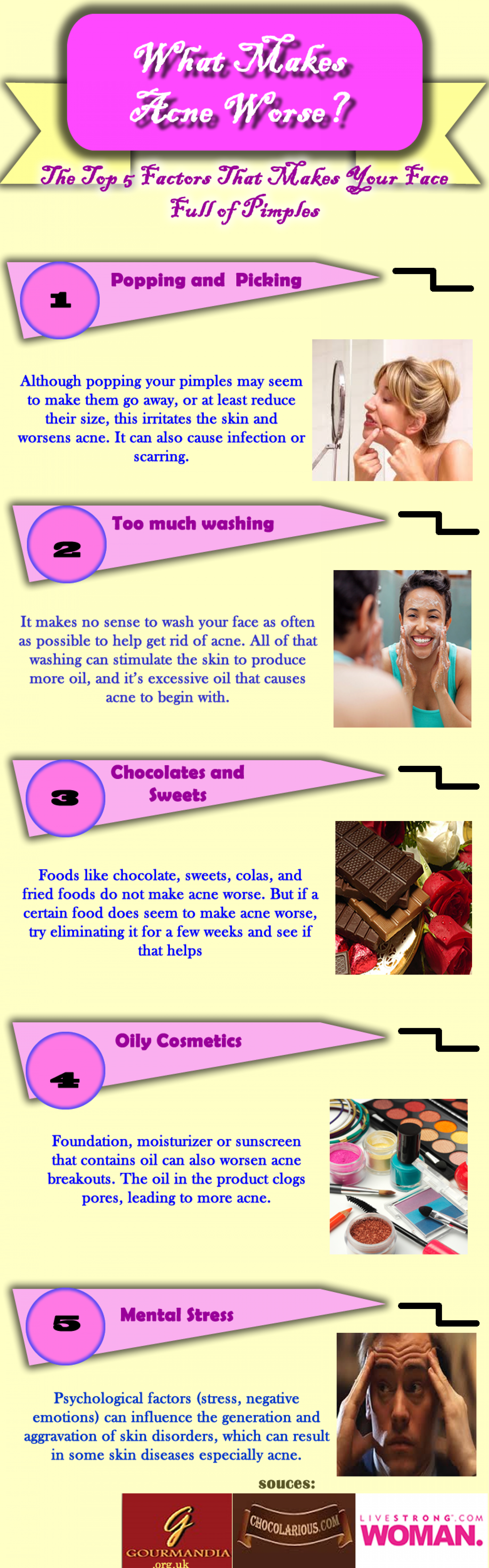 What Makes Acne Worse? Infographic
