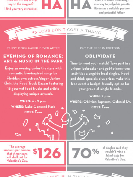 What To Do For Valentine's Day In Orlando 2014 Infographic
