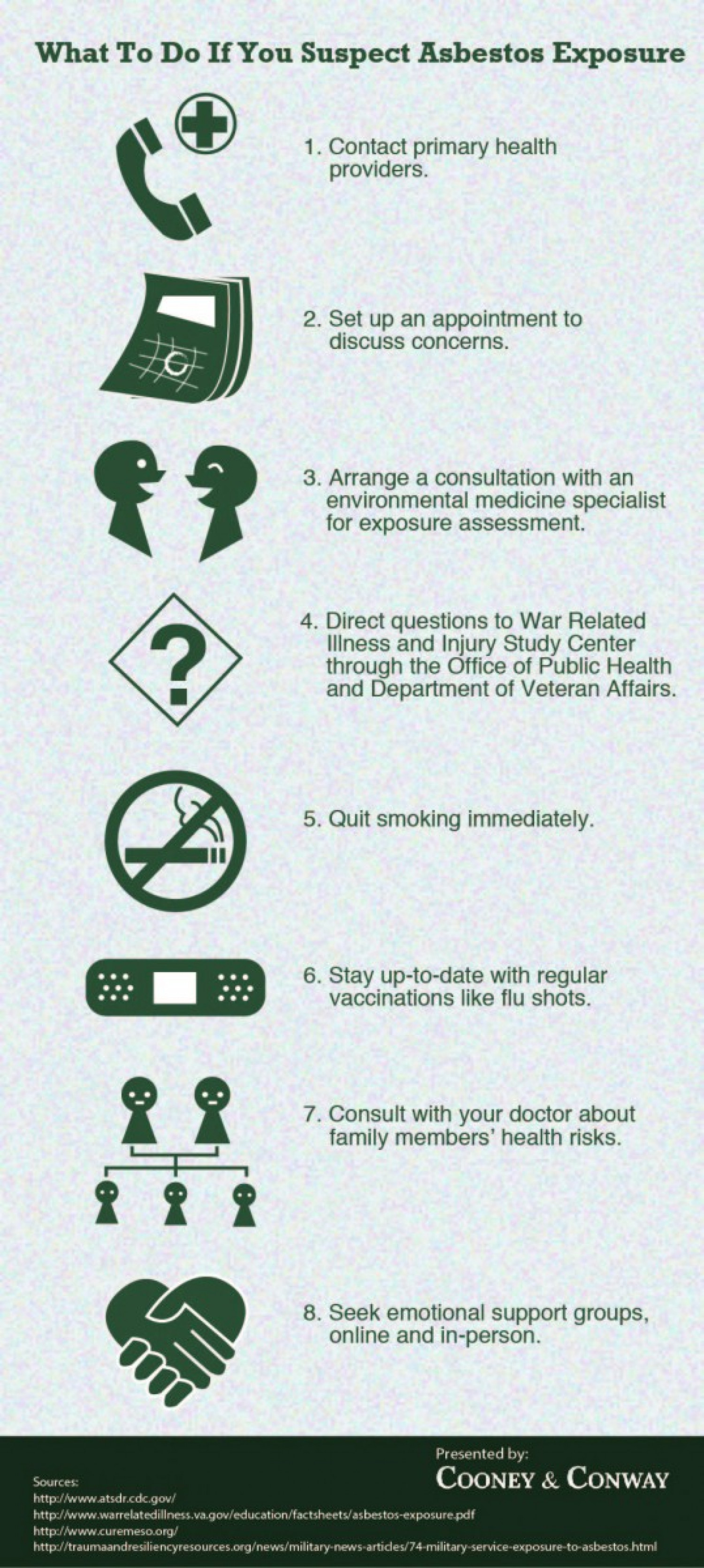 What To Do If You Suspect Asbestos Exposure Infographic