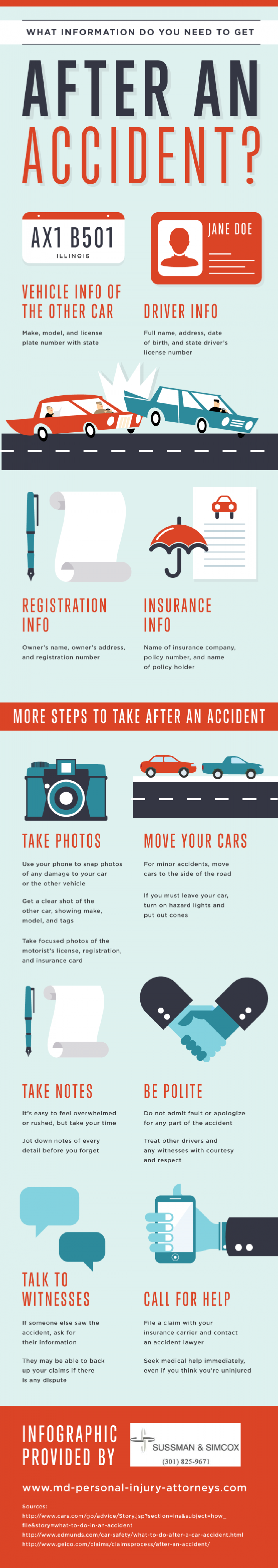 What to Do When Accidents Happen  Infographic