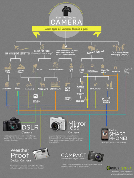 What Type of Camera Should I Get?  Infographic