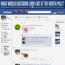 What Would Facebook Look Like at the North Pole? Infographic