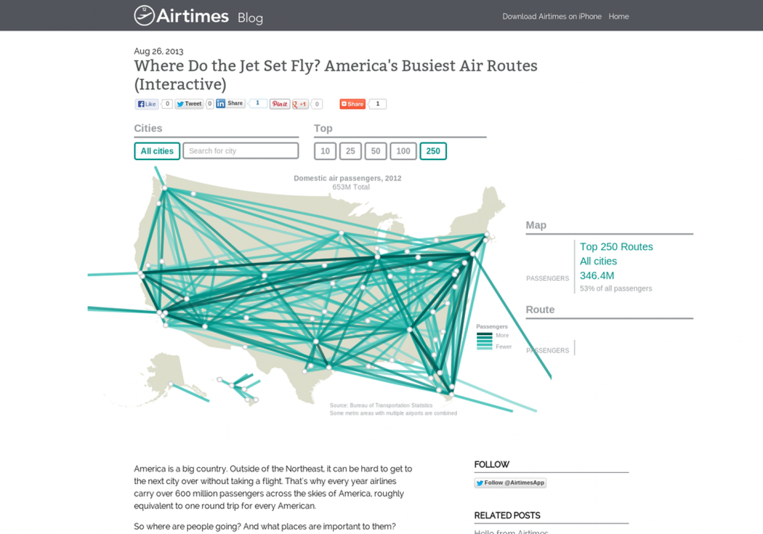 Where Do the Jet Set Fly? America's Busiest Air Routes  Infographic