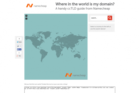 Where in the world is my domain? A handy ccTLD guide from Namecheap Infographic