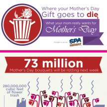 Where Mother's Day Gifts Go To Die Infographic