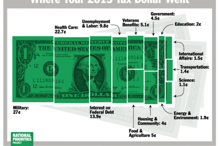 Where Your 2013 Tax Dollars Went Infographic