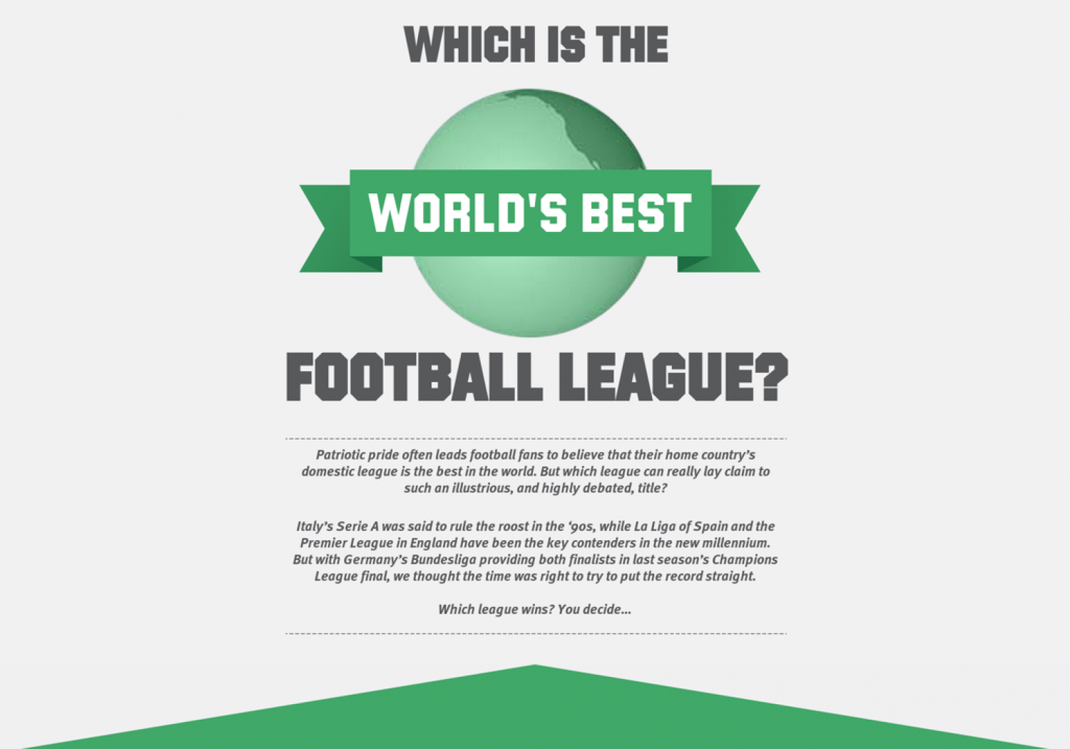 Which is the World's Best Football League? Infographic