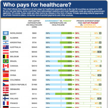 Who Pays For Healthcare? Infographic