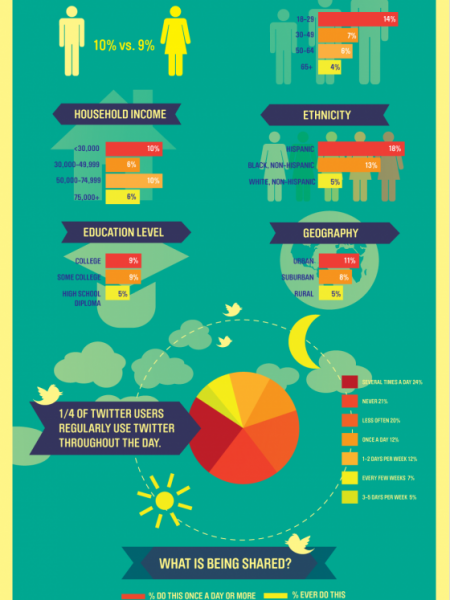Who's Using Twitter and How They're Using It Infographic