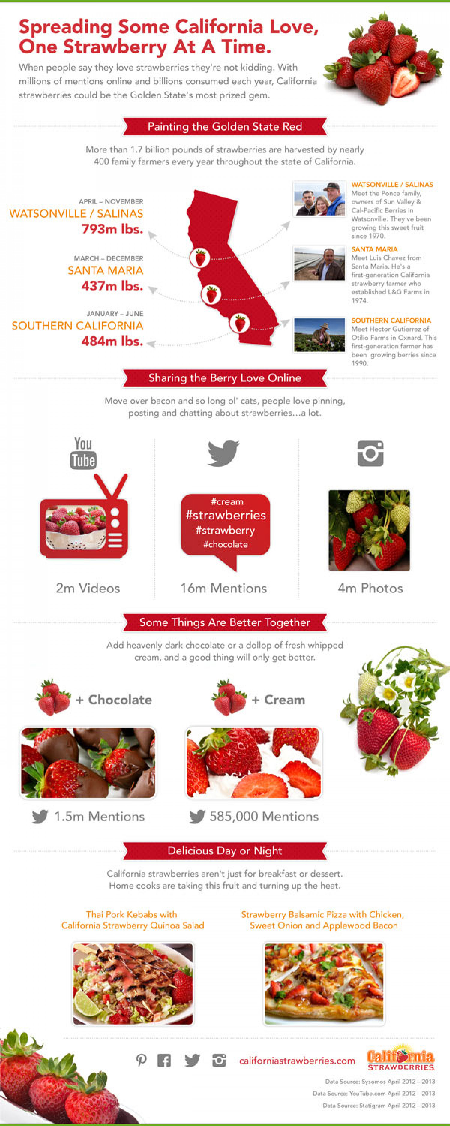 Why Americans Love Strawberries Infographic