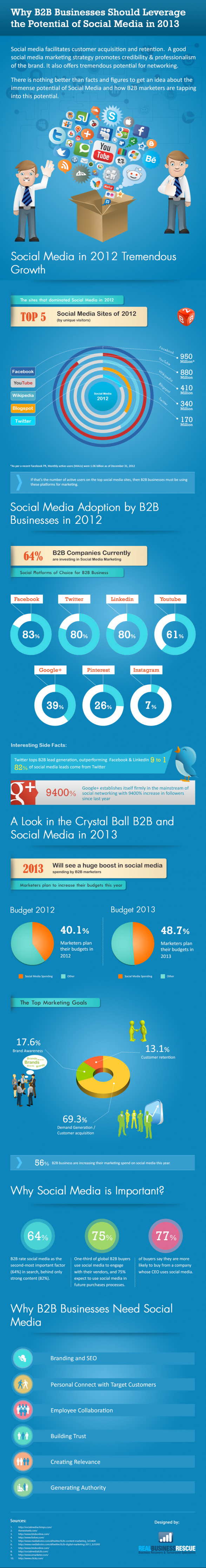 Why B2B Businesses Should Leverage the Potential of Social Media in 2013