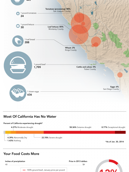 Why California's Drought Makes Your Tomatoes So Expensive Infographic