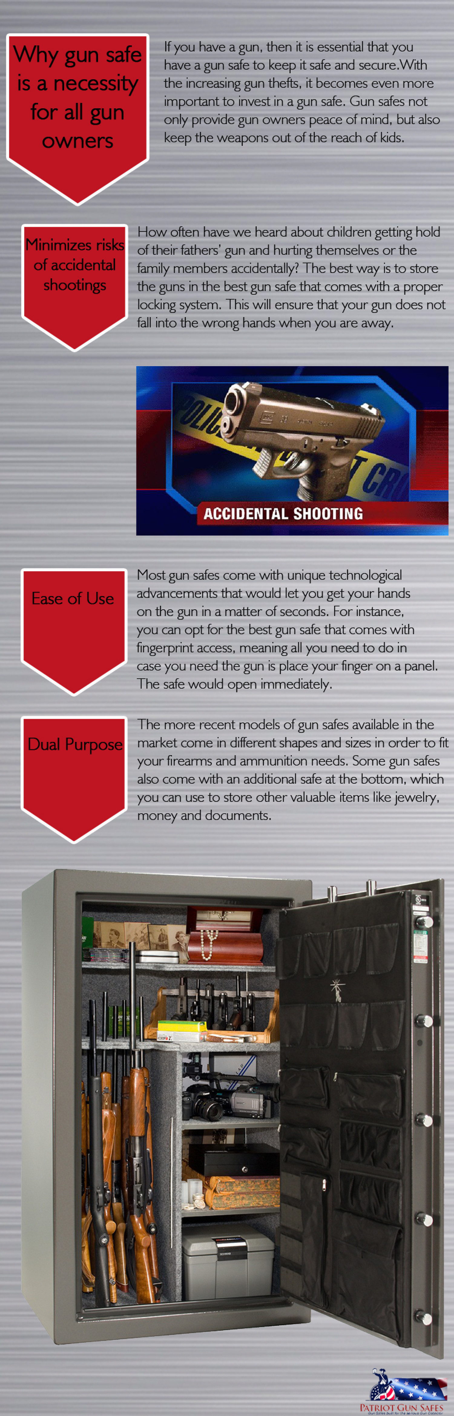 Why Gun Safe Is A Necessity For All Gun Owners Infographic