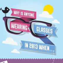 Why is anyone wearing glasses in 2013? Infographic