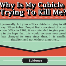 Why is My Cubicle Trying to Kill Me? Infographic