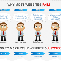 Why Most Websites Fail Infographic
