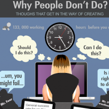 Why People Don't Do - Thoughts That Get in The Way of Creating Infographic