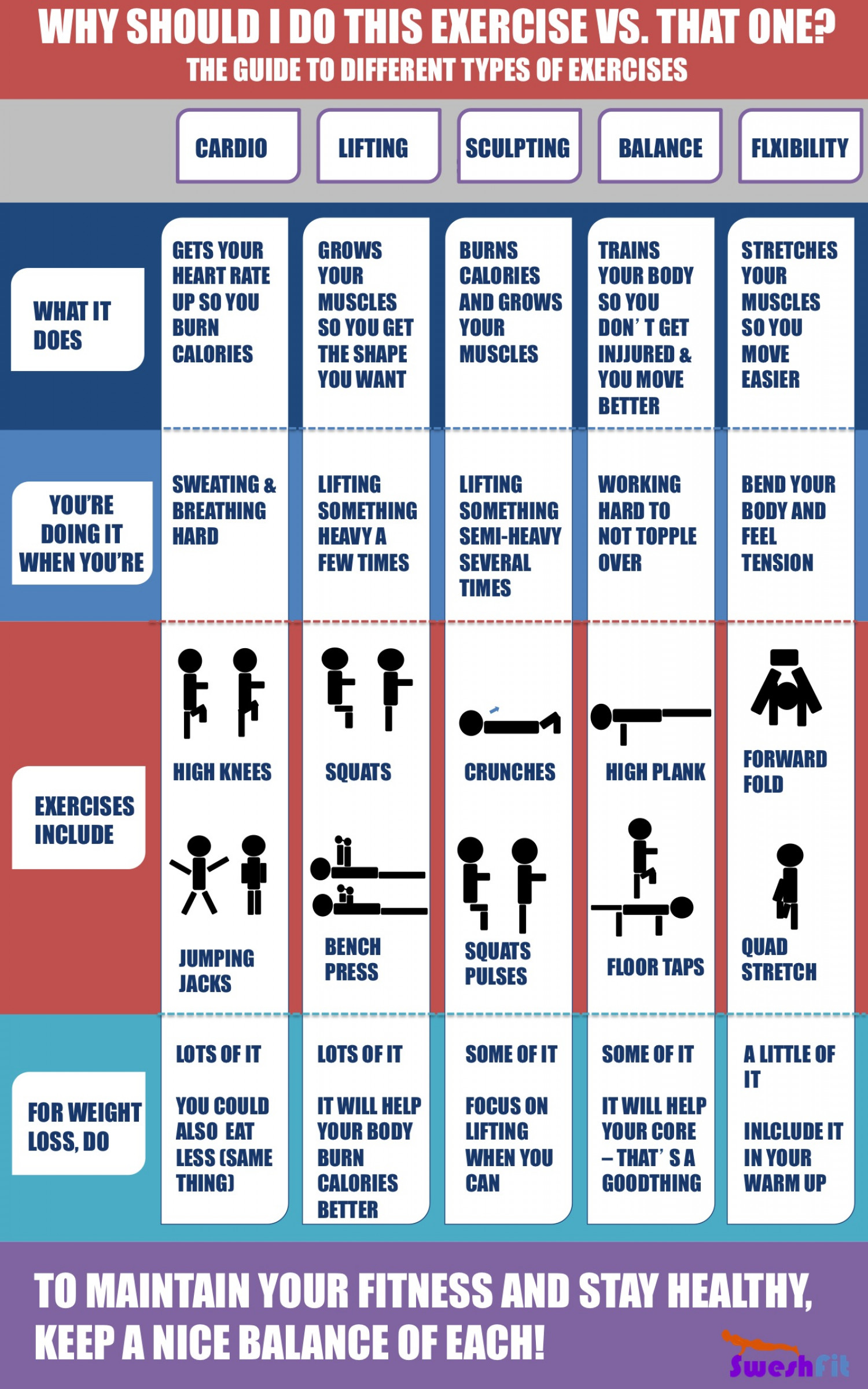 Why Should I Do This Exercise vs. That One? Infographic