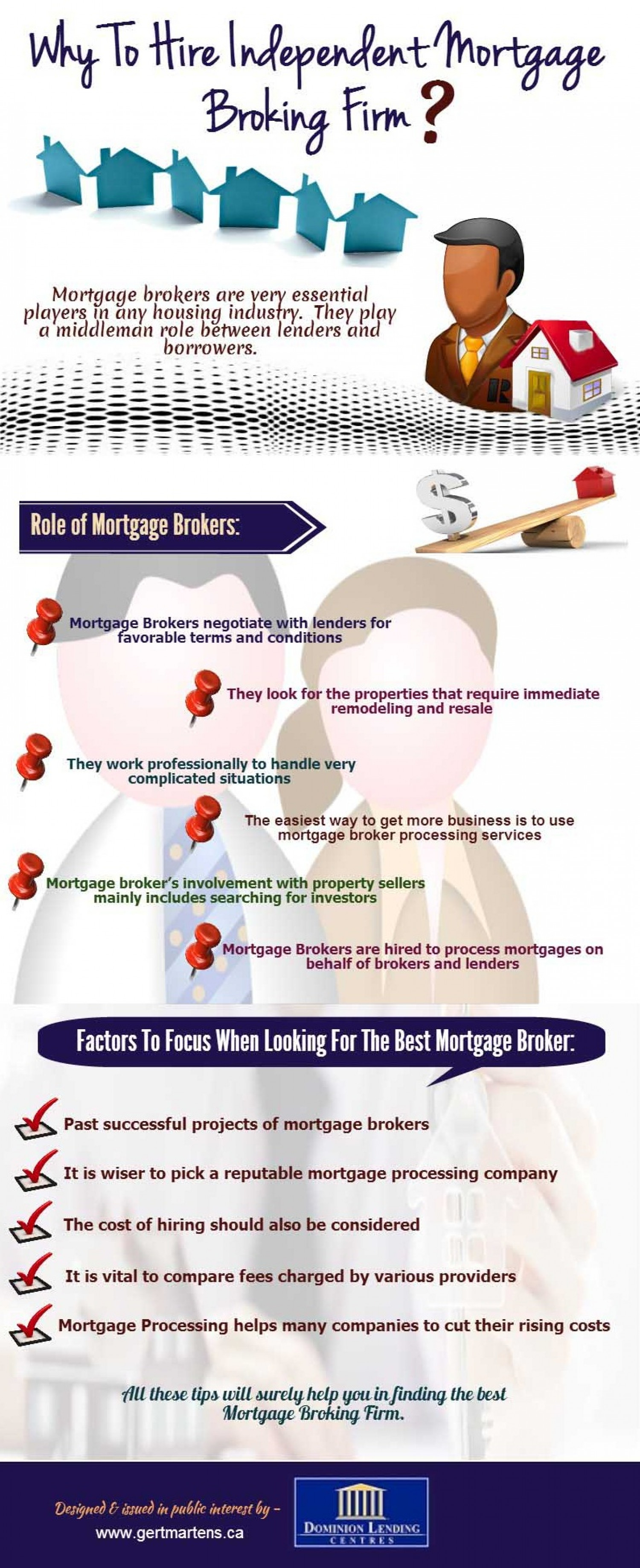 Why to Hire Independent Mortgage Broking Firm Infographic