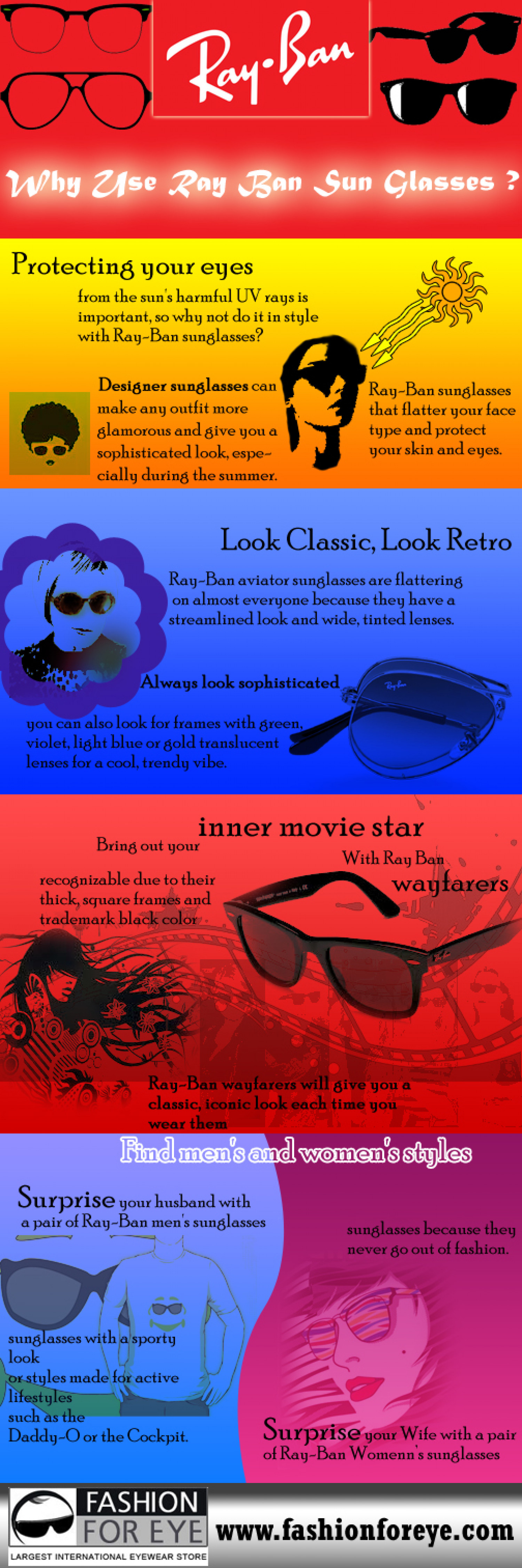 Why use Ray Ban Sunglasses – Some facts and figures  Infographic