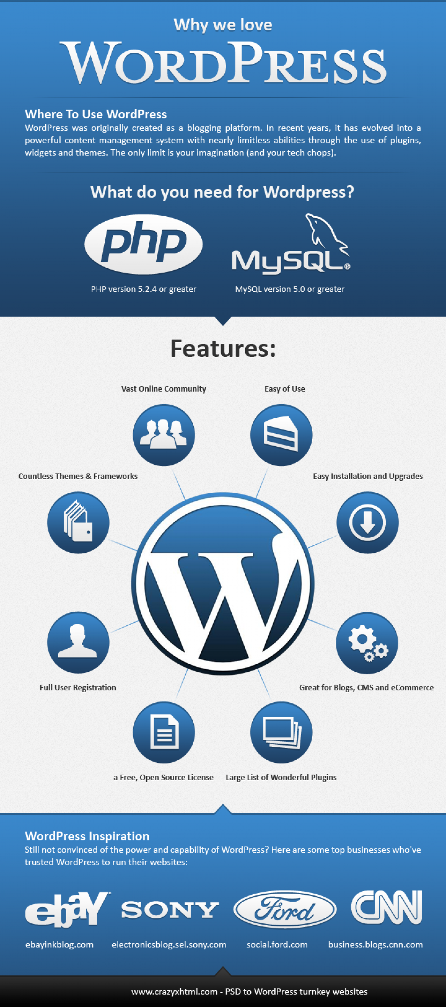 Why we love Wordpress Infographic