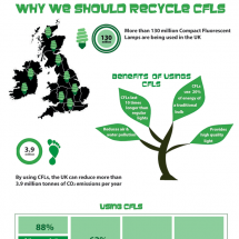 Why we should Recycling CFL's Infographic