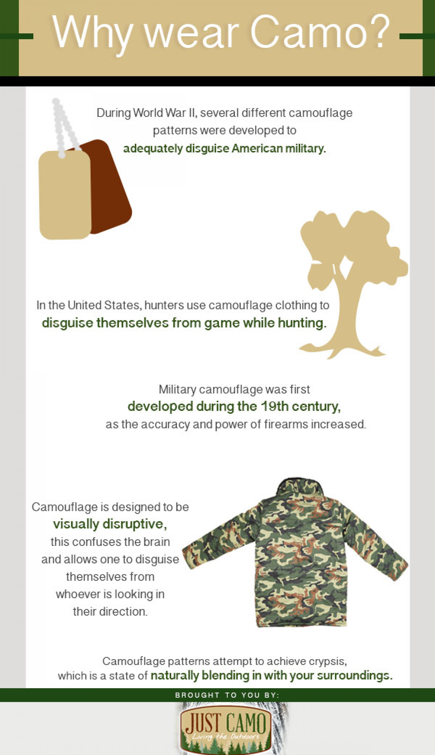Why Wear Camo? Infographic