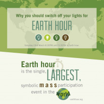 Why you should switch your lights off for Earth hour Infographic