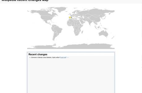 Wikipedia Recent Changes Map
