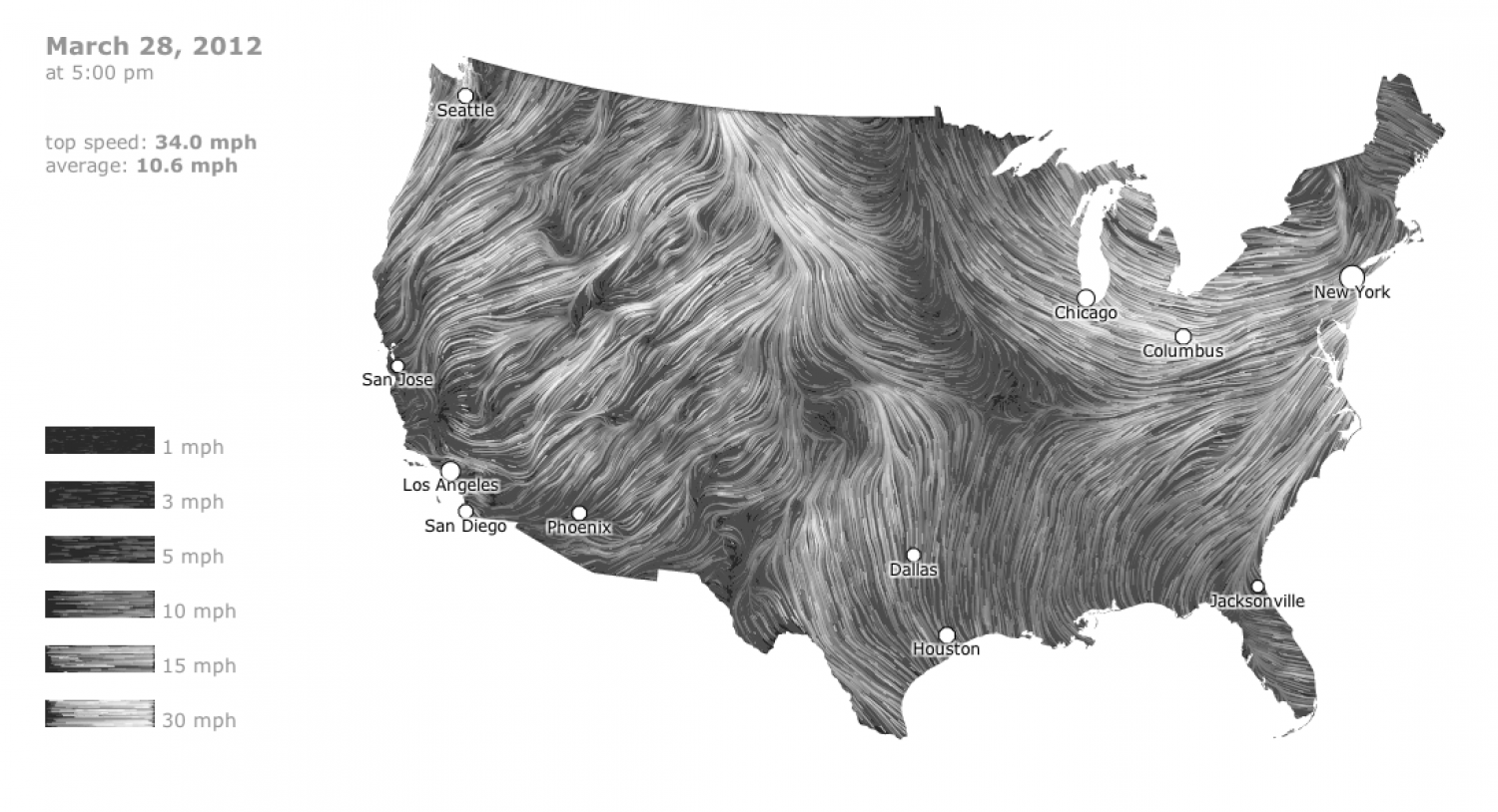Wind Map Infographic