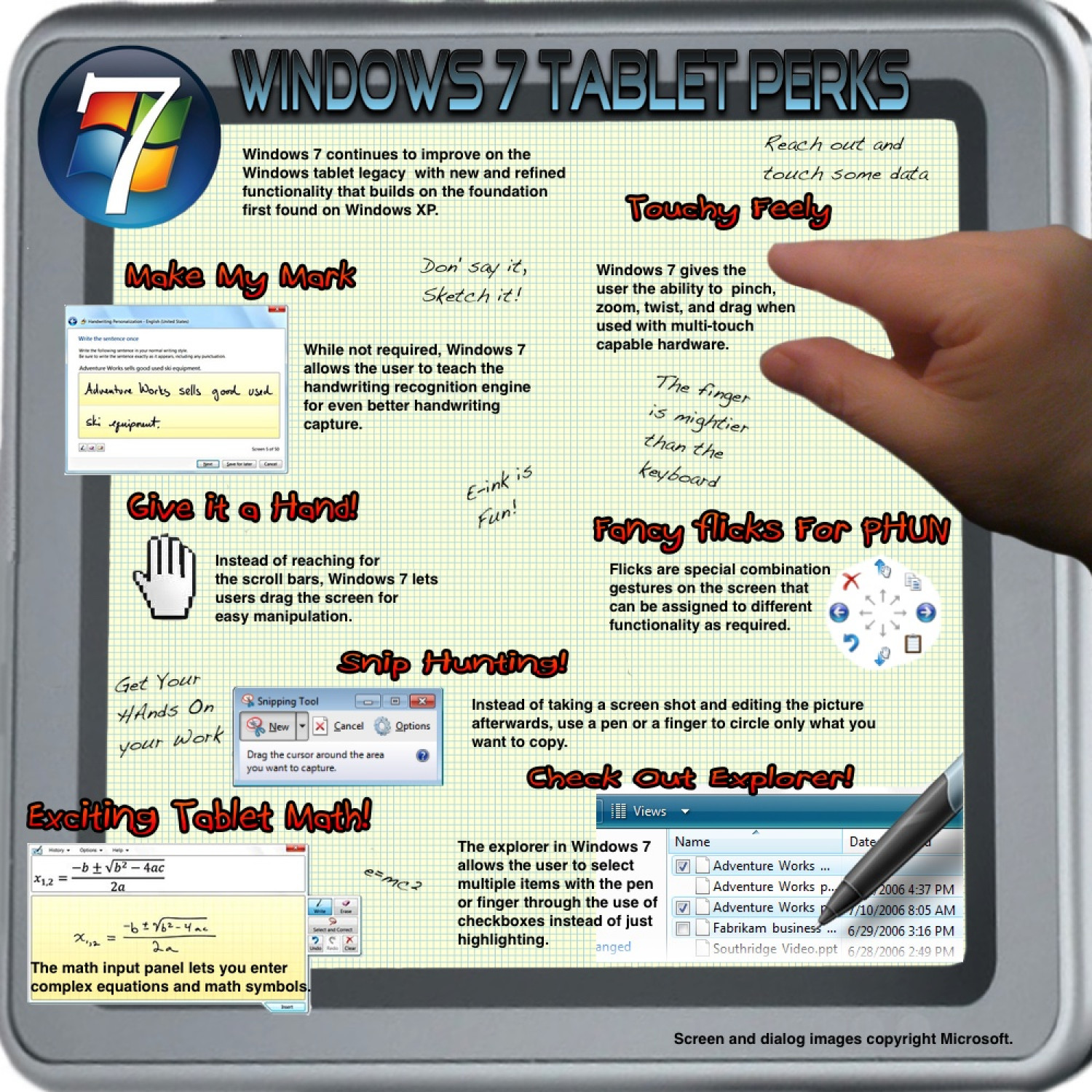 Windows 7 Tablet Perks Infographic