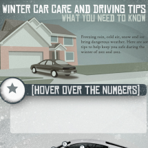 Winter Car Care and Driving Tips Infographic