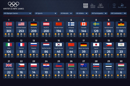 Winter Olympic Games Infographic