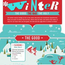 Winter: The Good, The Bad, and The Ugly Infographic