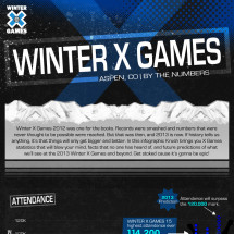 Winter X Games - By The Numbers Infographic