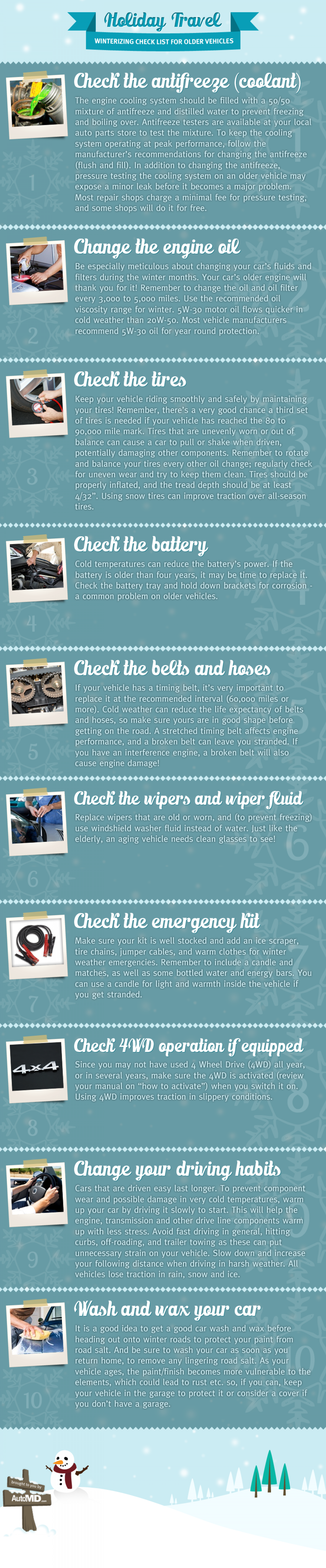 Winterize Your Vehicle Infographic