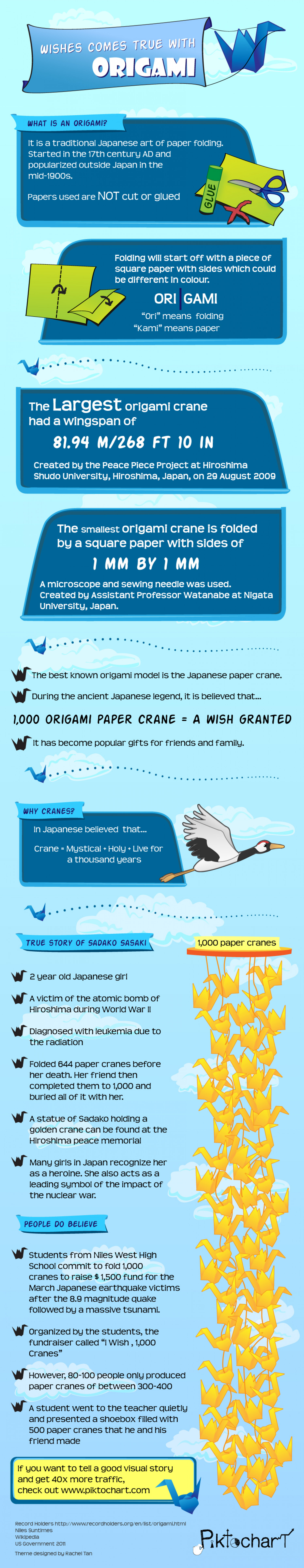 Wishes come true with  Origami Infographic